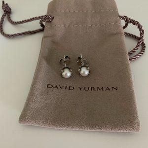 David Yurman Pearl and Diamond Earrings